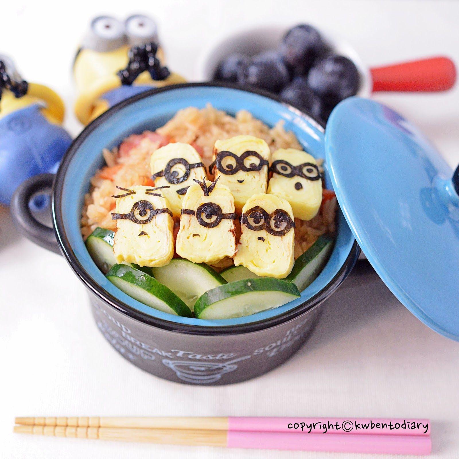 Karenwee's Bento Diary: Minions Tamagoyaki Food Art