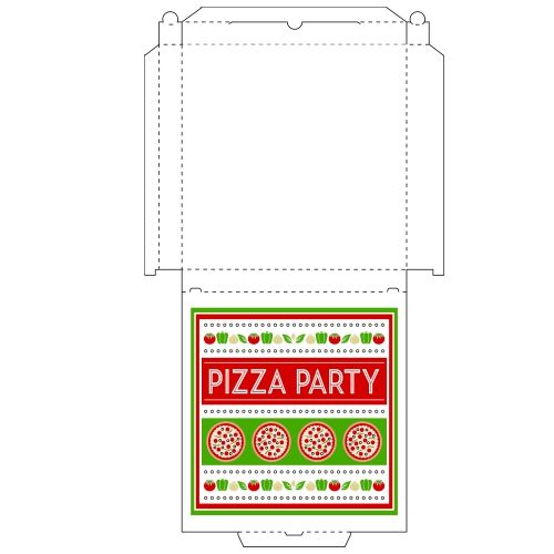 Blank pizza box template by danbradster | box template, pizza.