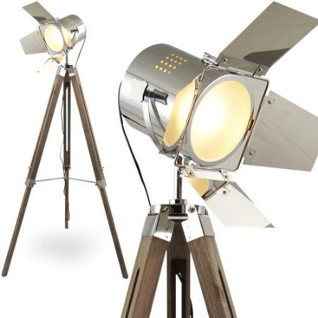 Fancy L MOJO STEHLAMPE STEHLEUCHTE TRIPOD LAMPE SHABBY CHIC TRIPODLAMPE BAUHAUS CINEMA STATIVLAMPE DREIBEIN KINO LAMPE TISCHLAMPE