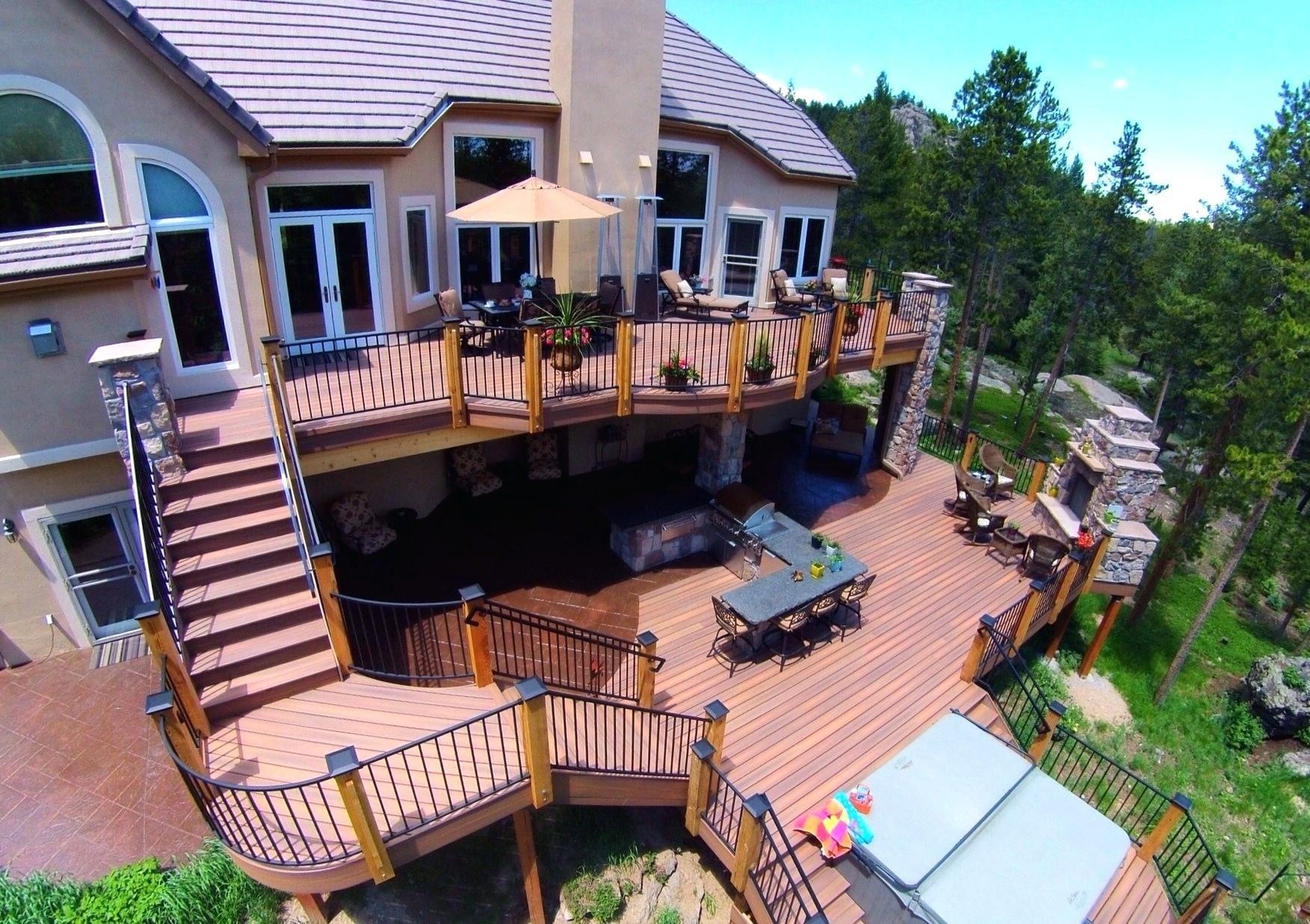 Unique Deck Ideas Backyard Design Decks Com Railing Designs