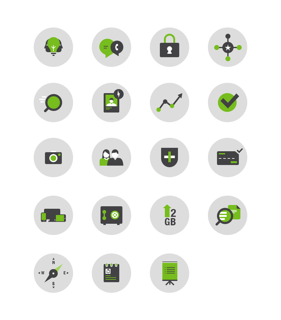 Evernote Business Feature Icons by Mark Koepsell for
