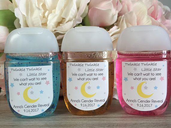 Gender Reveal Party Favor Labels Twinkle Twinkle Little Star Baby