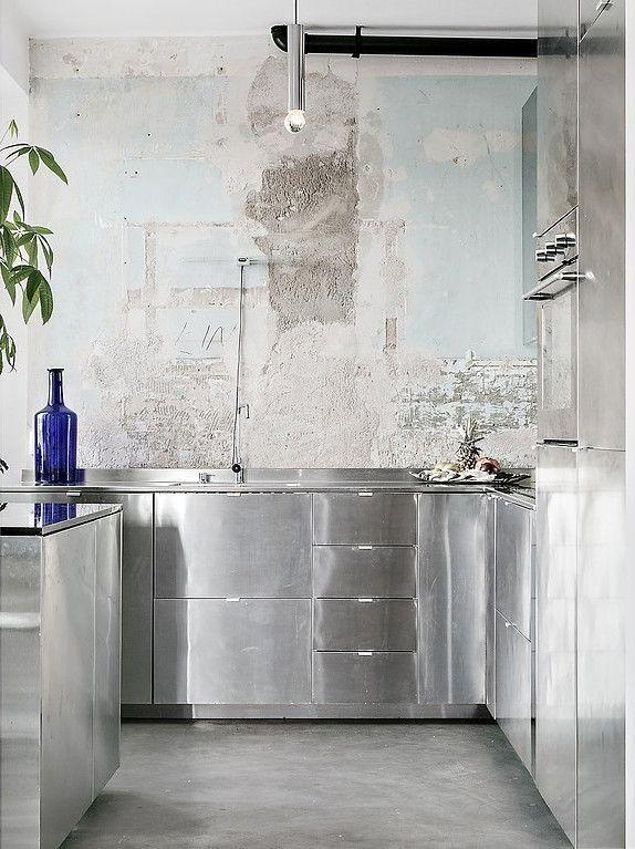 Photo of Acciaio inossidabile e cemento, # küchedekopinterest