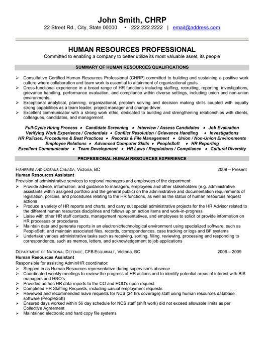 94 Human Resource Executive Resume Sample HR Manager