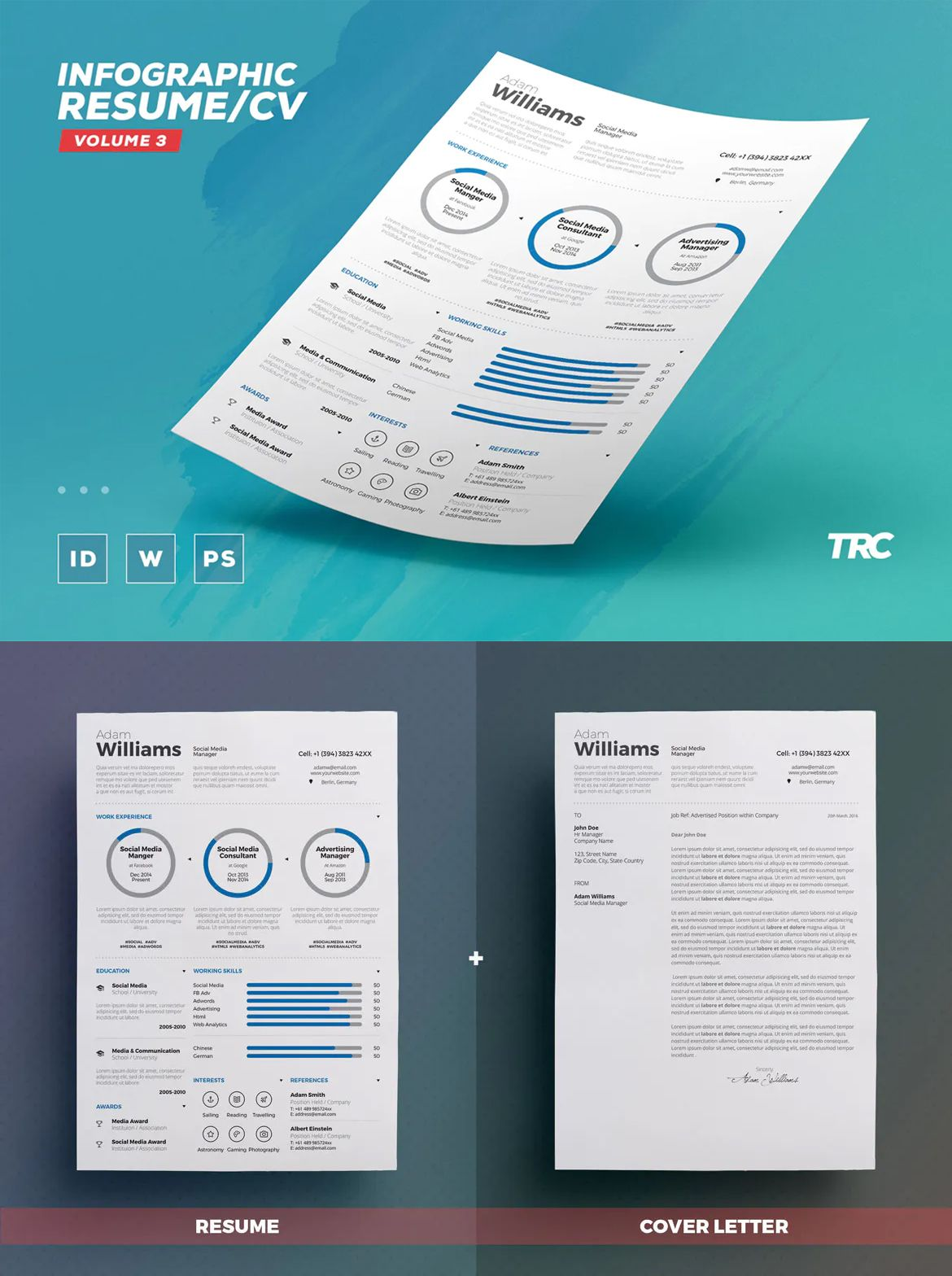 Infographic Resume/Cv Volume 3 by paolo6180 on Resume cv