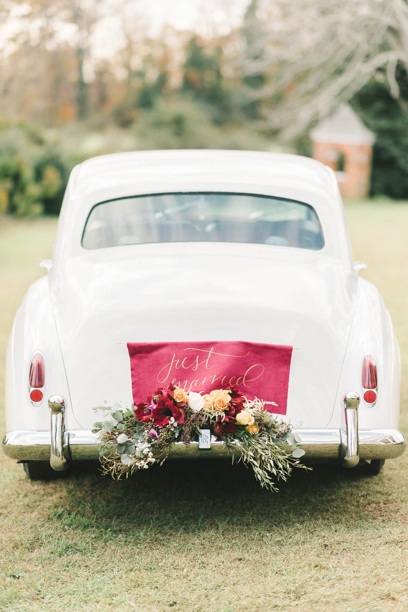 Wedding decorations on cars  Holiday Luxe Inspiration Shoot  The Getaway  Pinterest