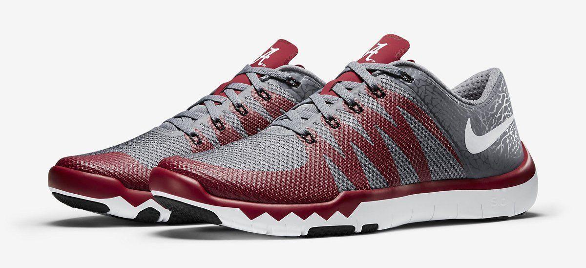 Alabama Crimson Tide Nike Free Trainer 5.0 V6 AMP Shoes
