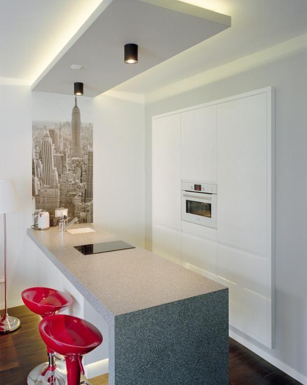 sufit podwieszany zaokrąglony  Szukaj w Google  kuchnia   -> Sufit Kuchnia Salon