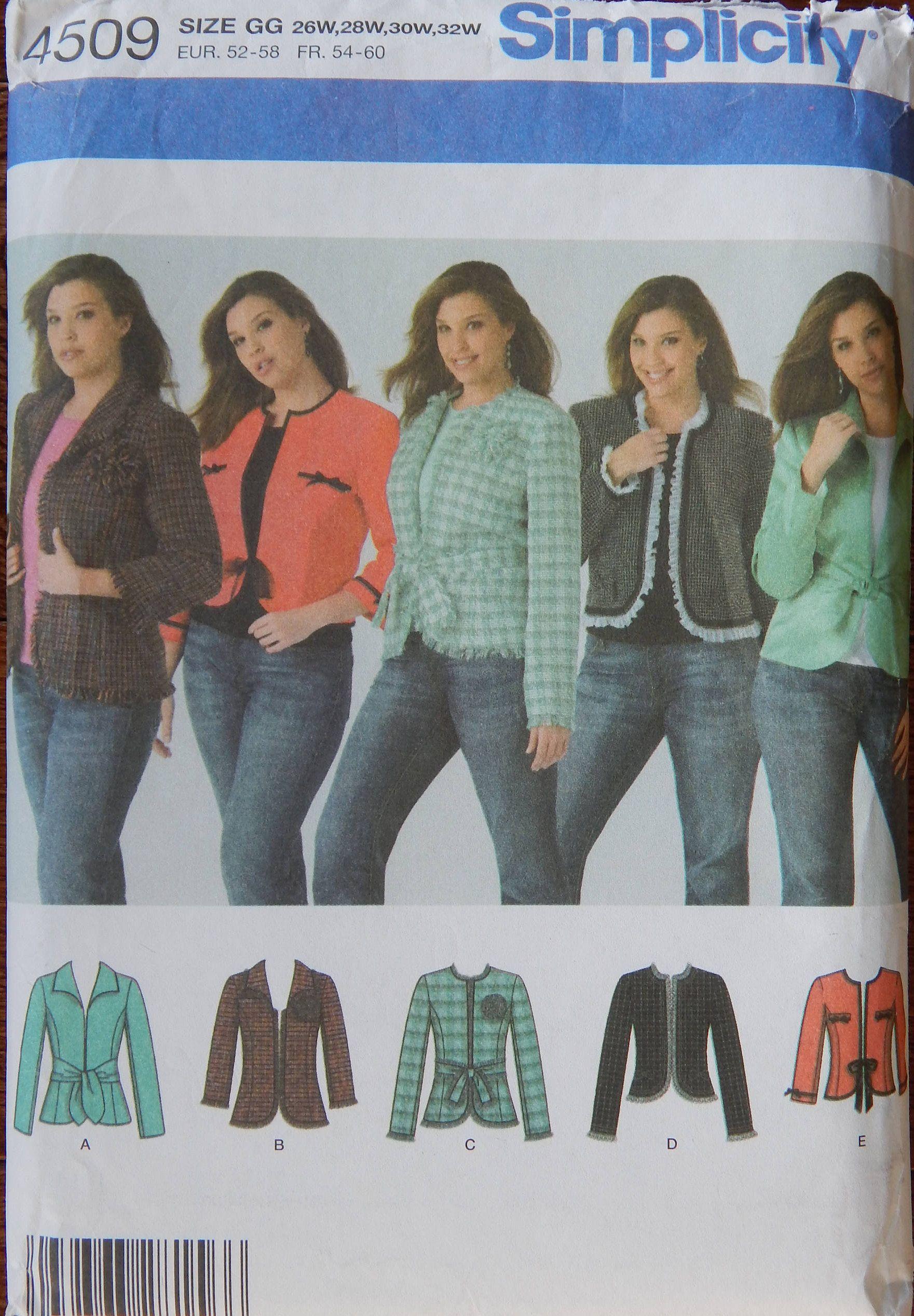 Short Jacket Sewing Pattern Open Wrap Front Belts Waist Hip