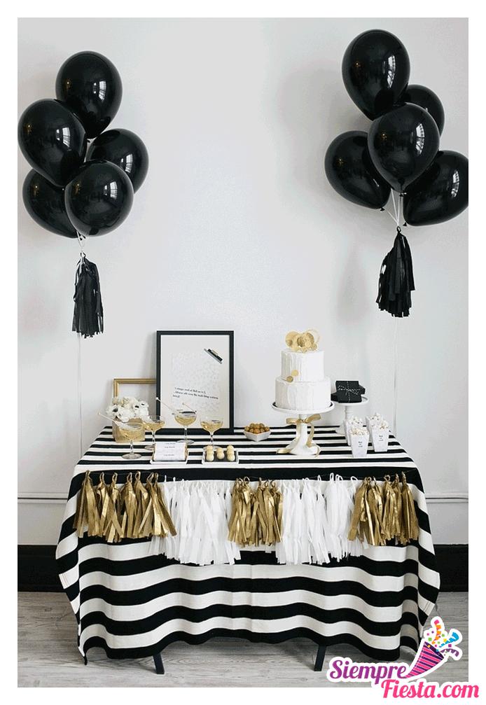 Increbles ideas una fiesta de color blanco y negro Muy hermosa