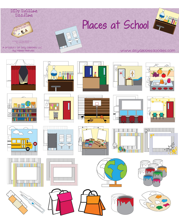 worksheet Places In The Neighborhood Worksheet places at school worksheet popflyboys preview copy pinterest school