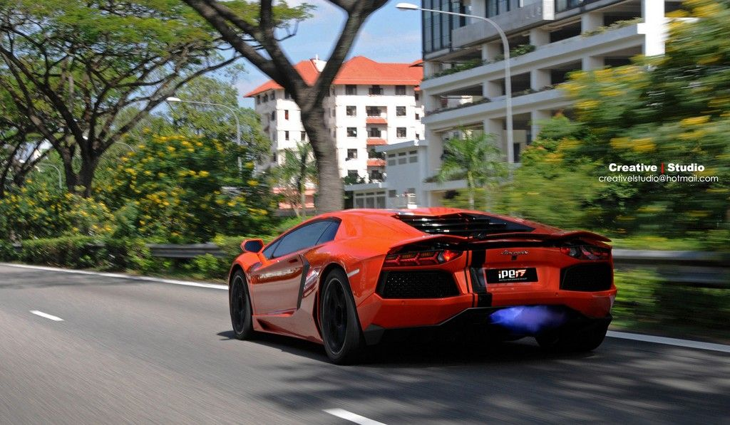 Gentil Photo Of The Day: Lamborghini Aventador Shooting Flames