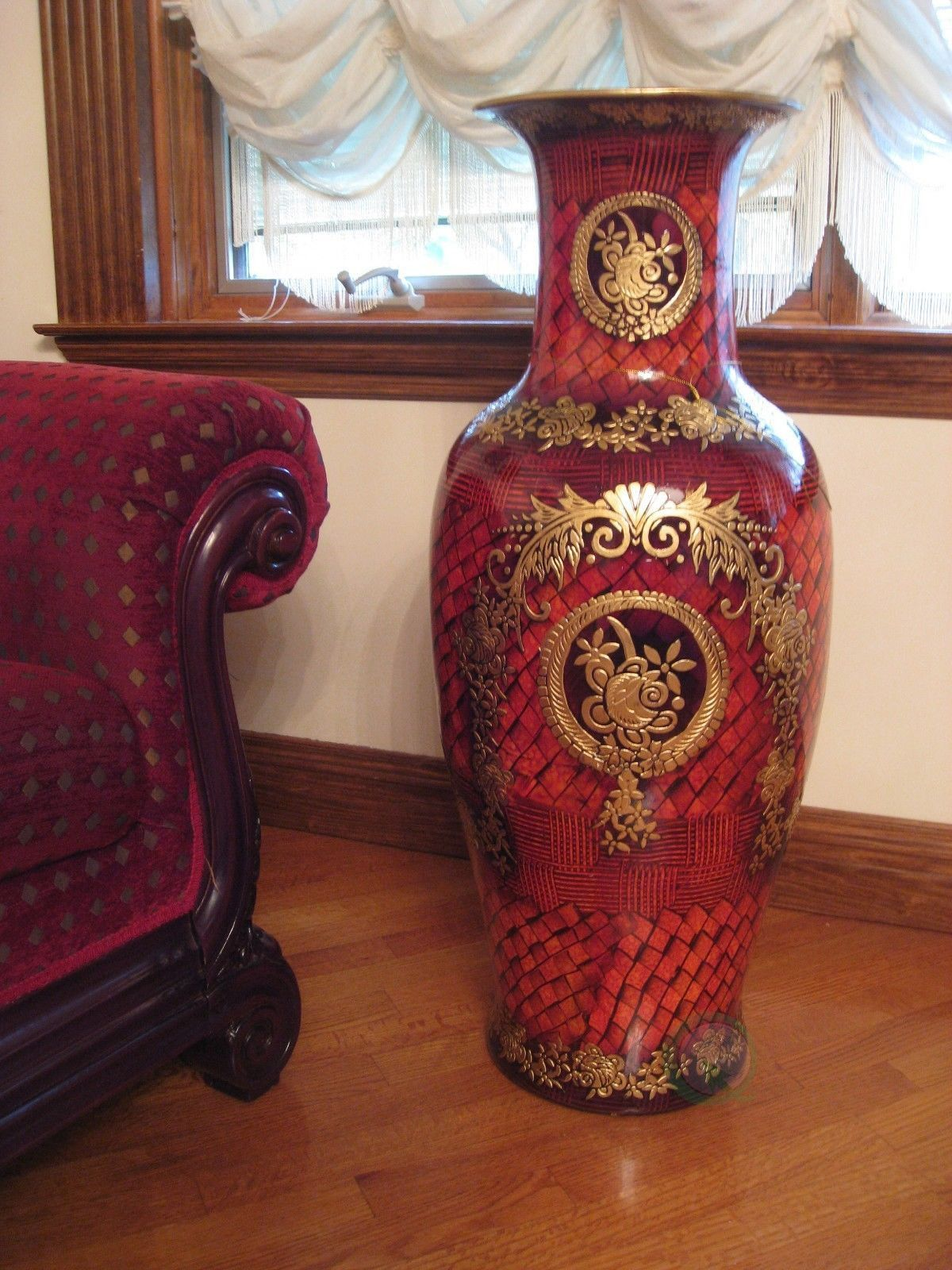 designer porcelain large floor vase 36 inch