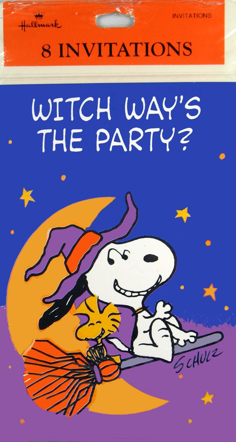 Witch way's the party? | Charles M. Schulz - Halloween | Pinterest ...