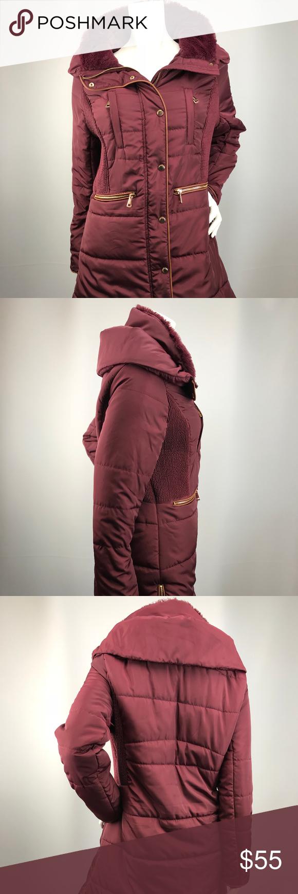 Philosophy Jr Studio Large Faux Fur Puffer Jacket Outerwear Women Clothes Design Fashion [ 1740 x 580 Pixel ]