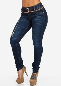 de4abeb2177 Butt Lifting Skinny Mid Rise Blue Jeans. Price   26.99