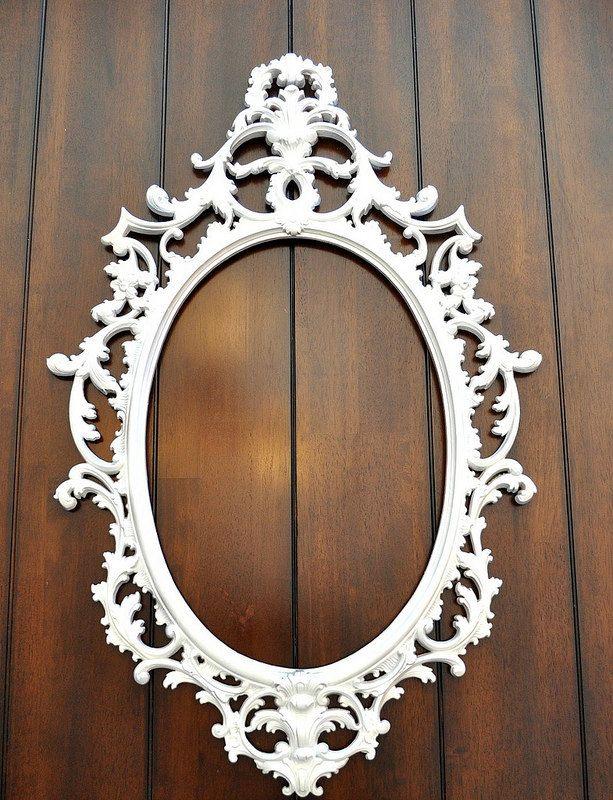 Ornate Oval Baroque Frame Newborn Photo Prop Wedding