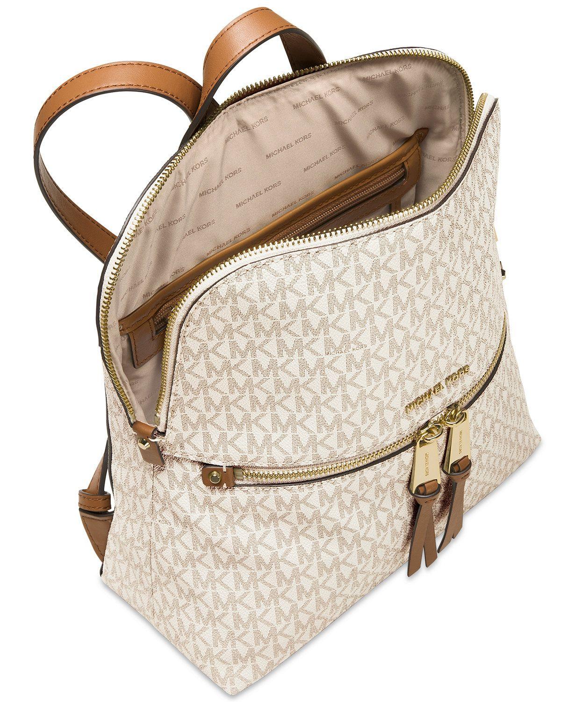3cc734636747 MICHAEL Michael Kors Signature Rhea Medium Slim Backpack | macys.com