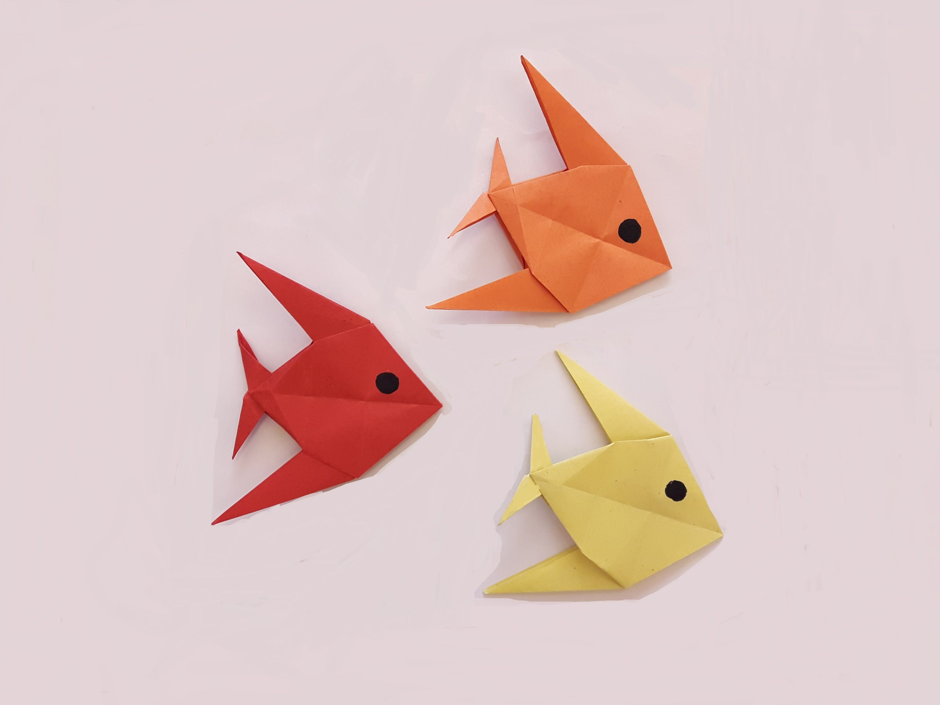 How to make a paper fish origami pinterest paper fish origami animal how to make an origami butterfly step by step jeuxipadfo Choice Image