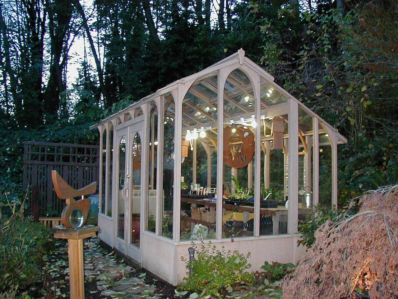 A nantucket style greenhouse located on vashon island for Greenhouse styles