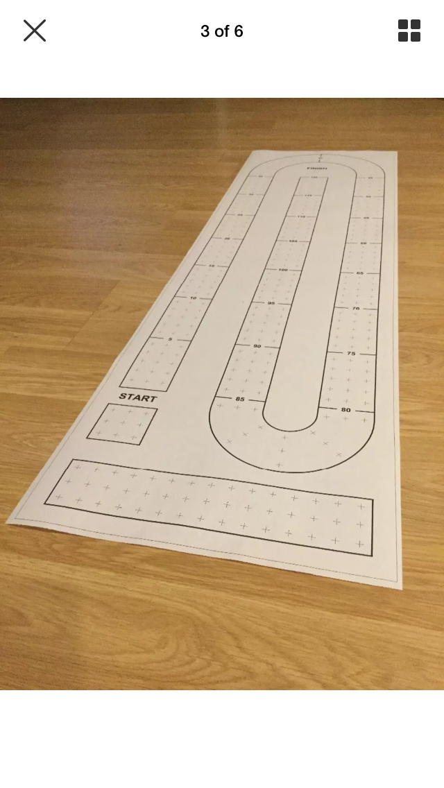 Large Cribbage Board Paper Template For Making Your Own