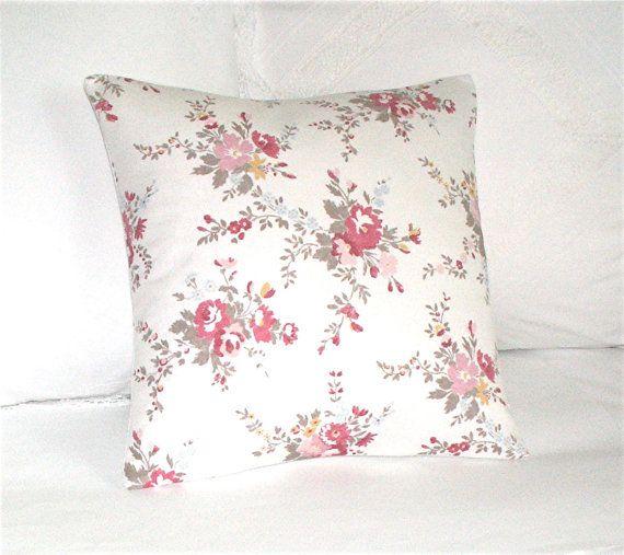 English Rose Country Garden Cushion Decorative Throw Pillow