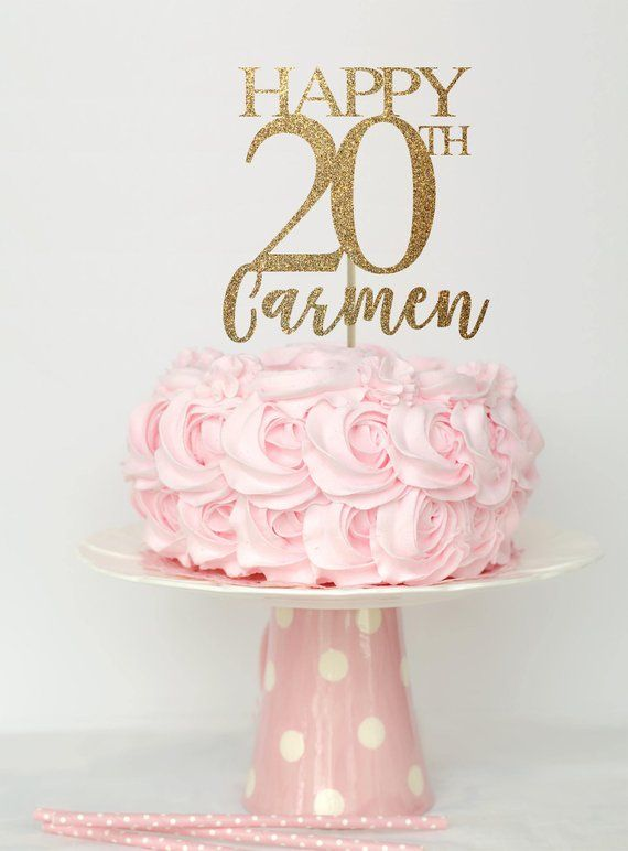 20 and fabulous cake topper, 20 birthday decorations, 20 birthday ...