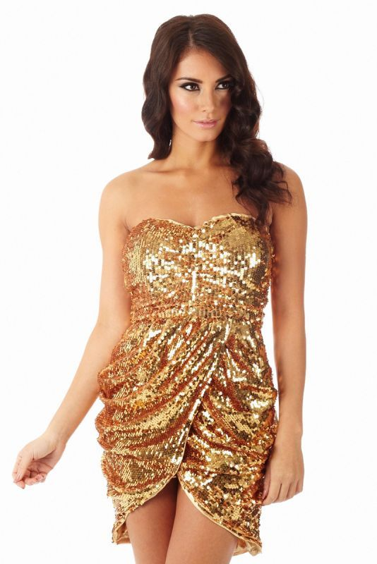 1000  images about Gold sequin dresses on Pinterest - Bandeau ...