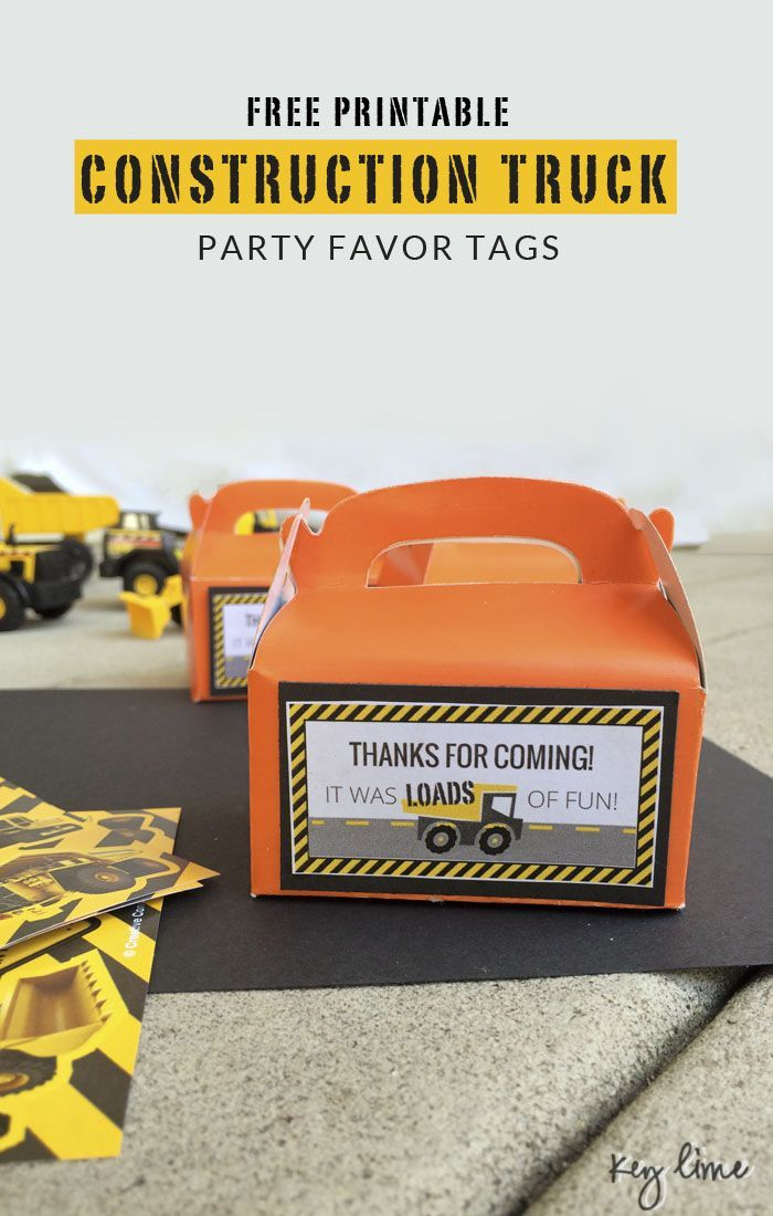 Construction Party Printables Construction party, Party - birthday invitations free download