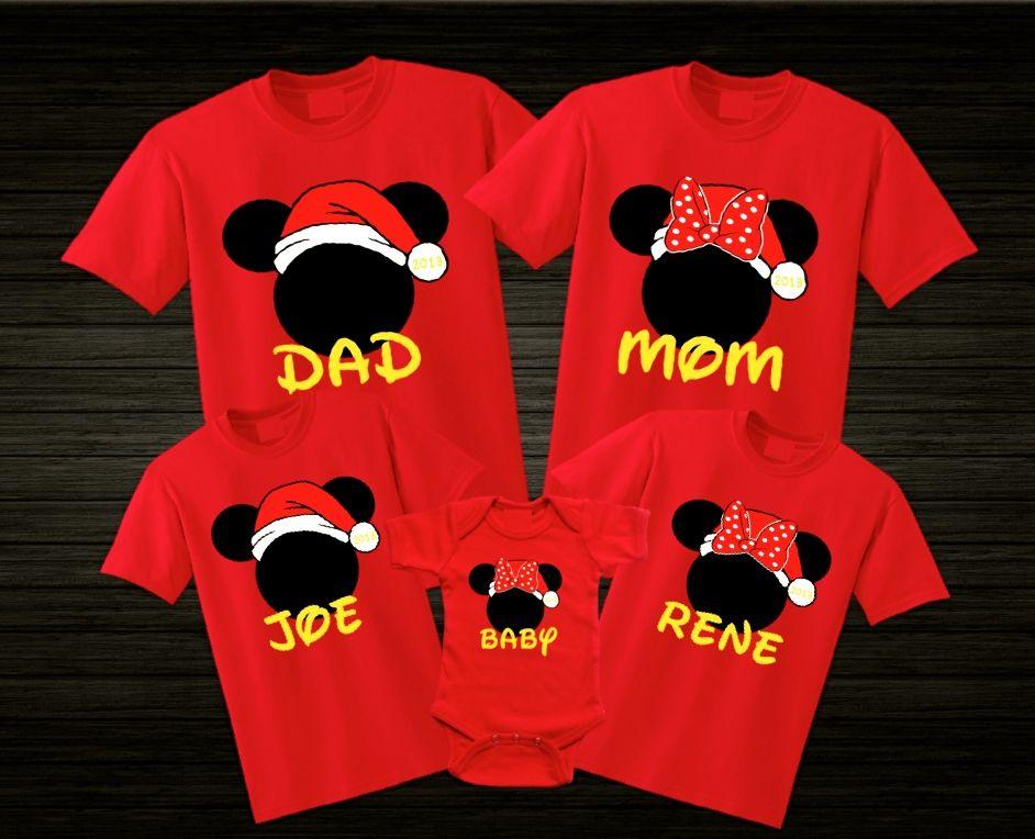 Disney Santa Hat Christmas Family Vacation Disney