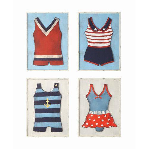 Wall Art Vintage Swimsuit Creative Co Op Waterside