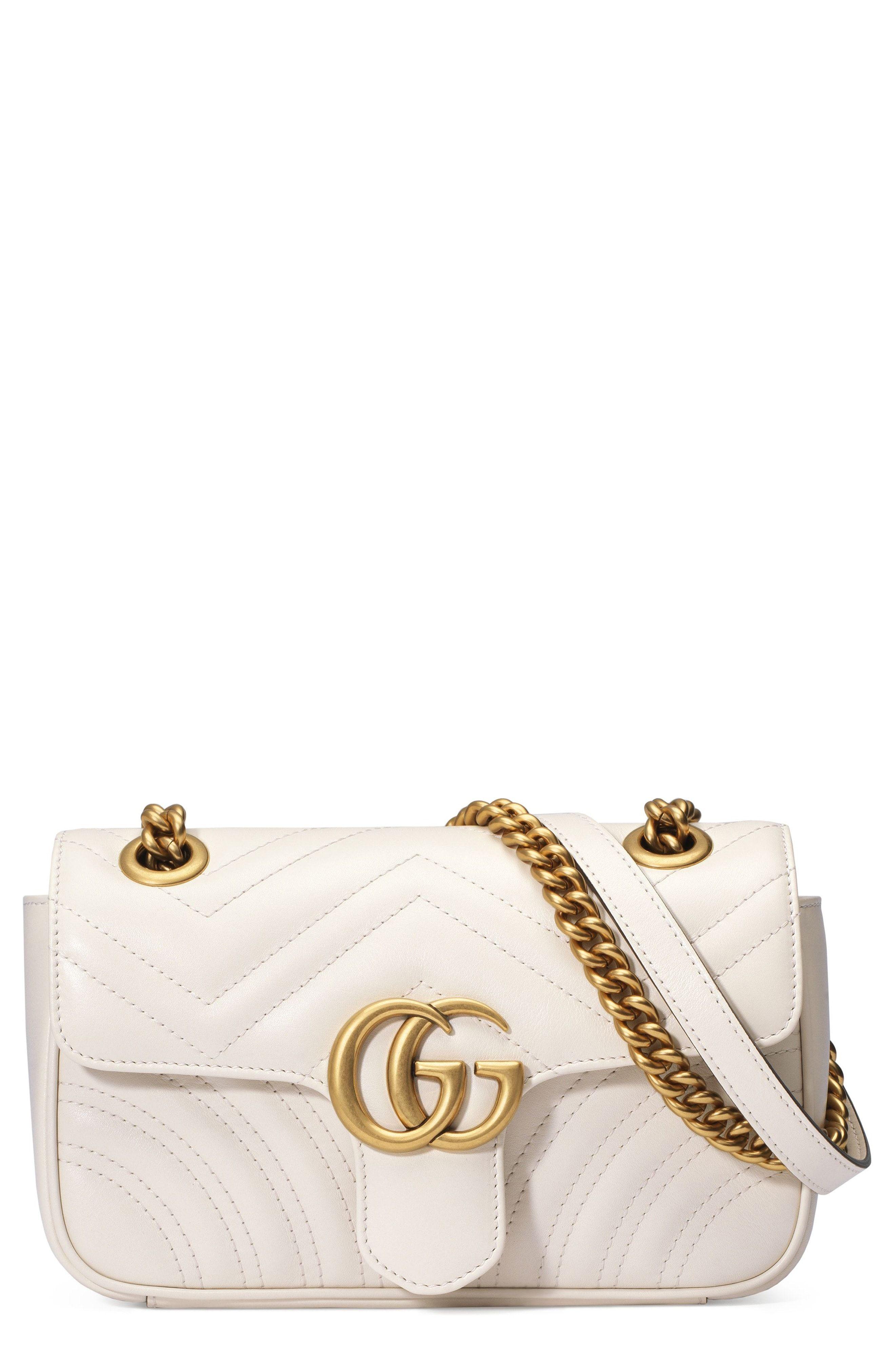 035919631066 Gucci Mini GG Marmont 2.0 Matelassé Leather Shoulder Bag