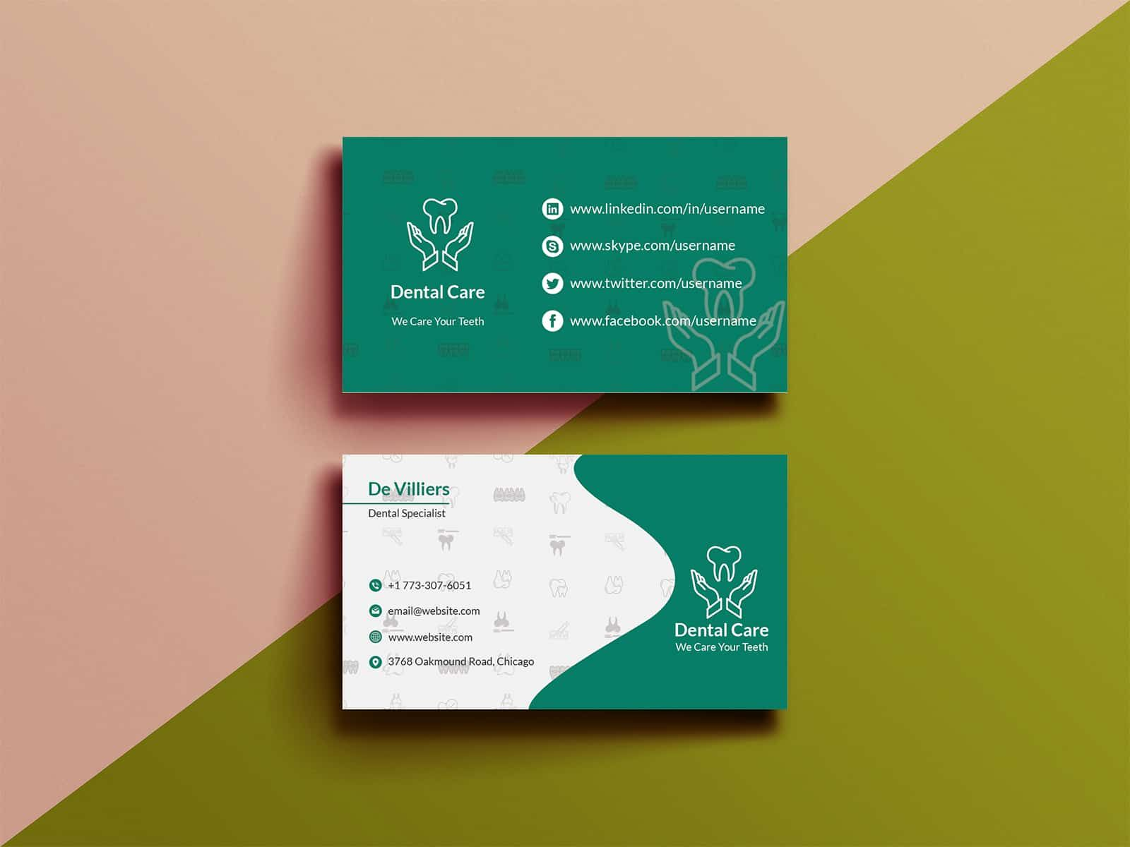Dental Business Card Free Vector Free Vector Freepik Freevector Logo Business Card Business A Dental Business Cards Dental Business Free Business Cards