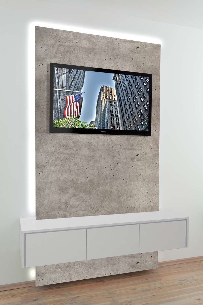 Tv Wand Breite 1 200 Mm Mit Sideboard 3 Turig Farbkombination
