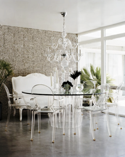 My Perfect Dining Room! Weu0027re Adding The Louid Ghost Chairs To A New  Pedestal Dining Table For A Clean Modern Look. The Lucite Chairs Keep The  Focus On This ...