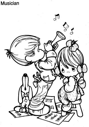 Musician coloring page, precious moments precious Pinterest - new coloring pages beagle puppies