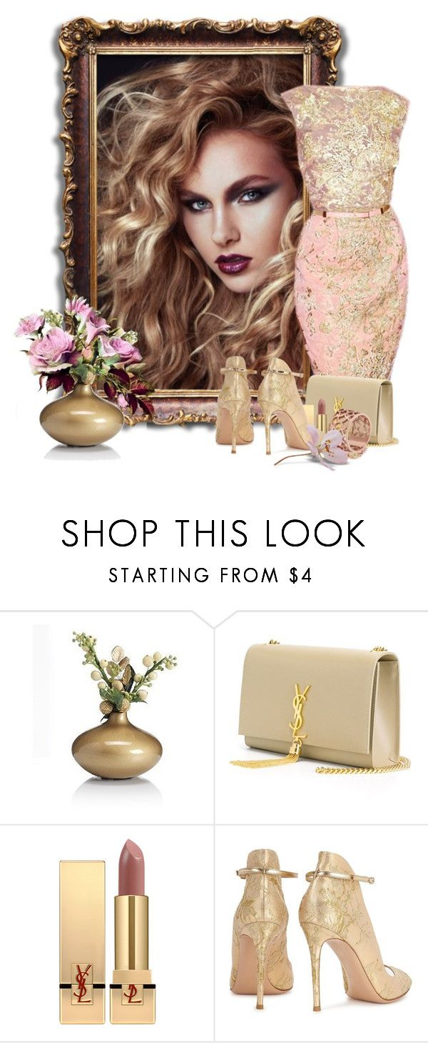 """""""Pink Chic"""" by flowerchild805 ❤ liked on Polyvore featuring Marks & Spencer, Yves Saint Laurent, Gianvito Rossi, Tartesia, men's fashion and menswear"""