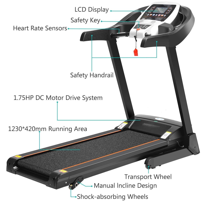 2.25HP Bluetooth Folding Treadmill Indoor Commercial
