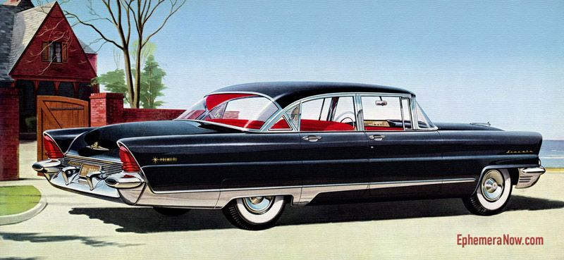 Plan59 :: Classic Car Art :: Vintage Ads :: 1956 Lincoln Premiere