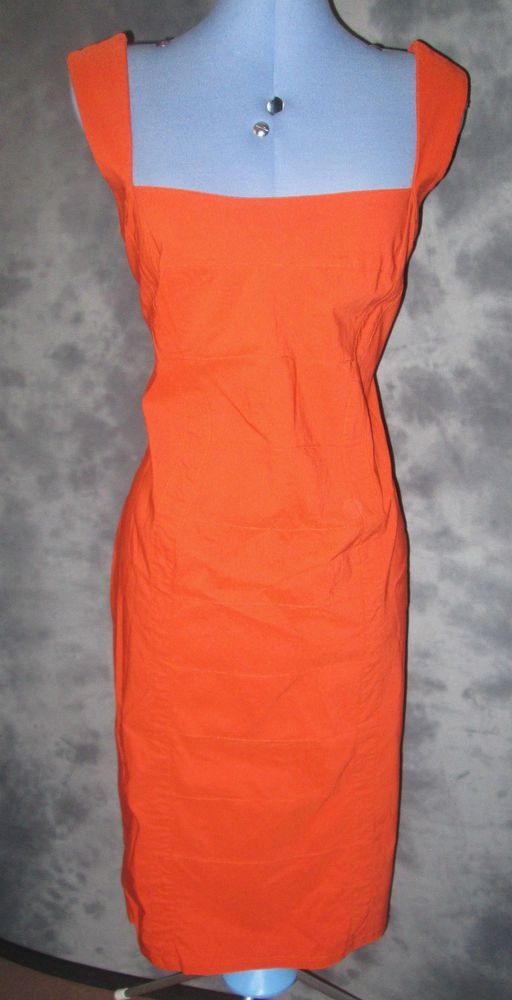 Debenhams,ladies,size 16,orange,no pattern,sleeveless,body con,formal,dress. £14.99P SELLING TOMORROW NIGHT.WITH FREE UK POSTAGE.