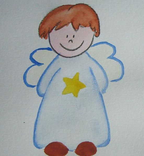 schutzengel  engel zeichnen kunst für kinder und