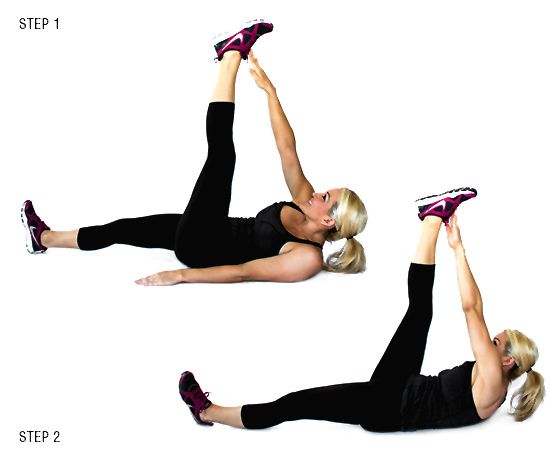 Image result for Alternating Toe Touches: