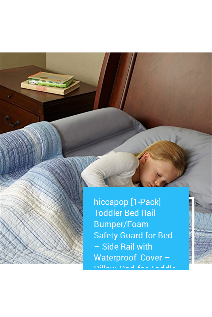 hiccapop [1Pack] Toddler Bed Rail Bumper/Foam Safety