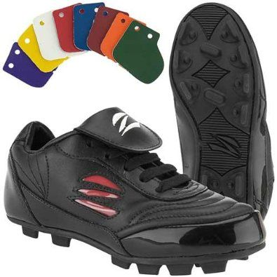 3f5dbbdf278 Zephz Wide Traxx Soccer Cleat Mens - Black White 9 extra wide zephz.  35.99