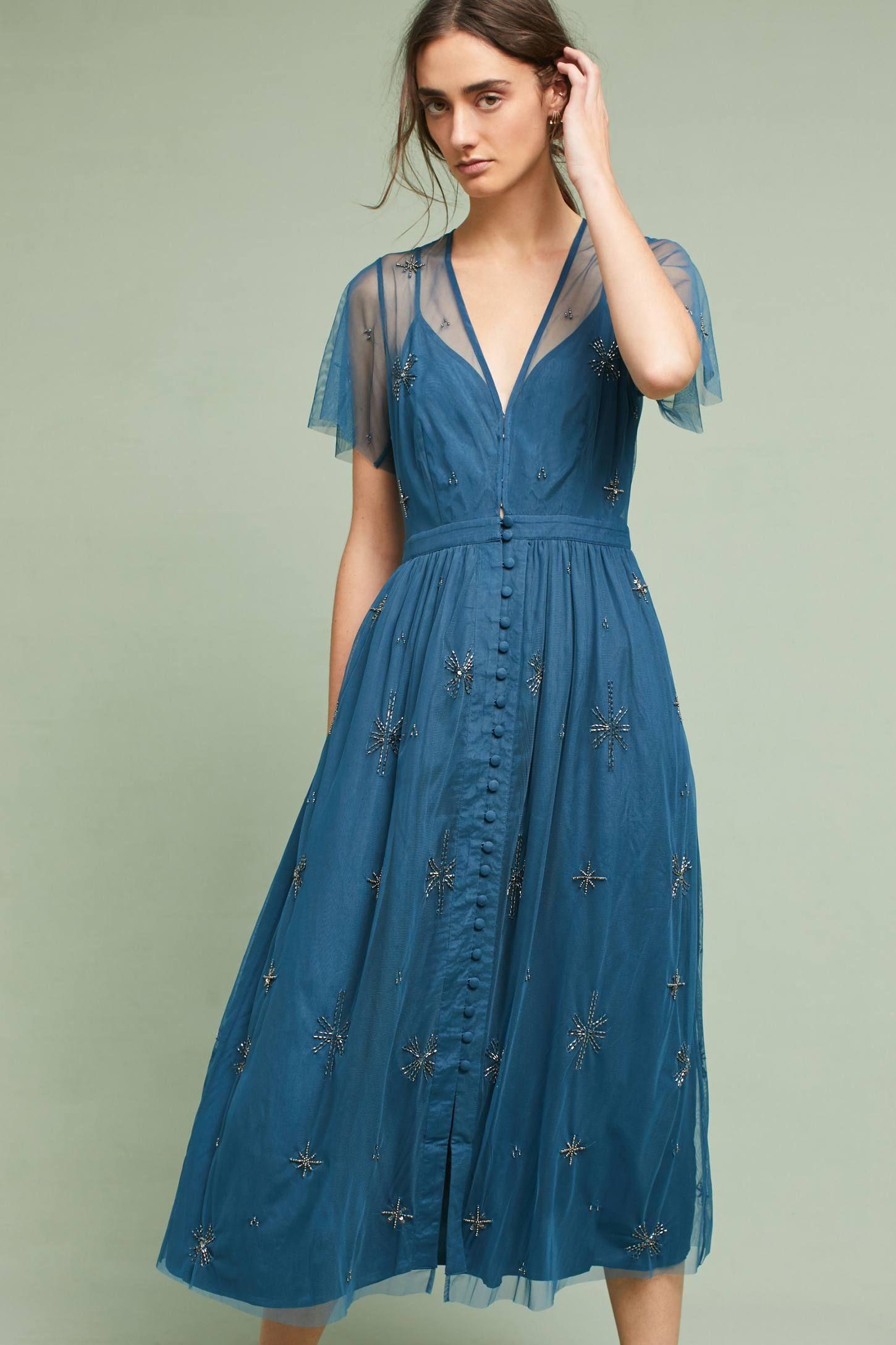 Lille Beaded Midi Dress | Lille, Midi dresses and Anthropologie
