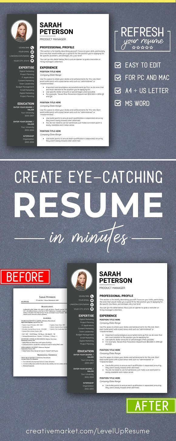 Modern RESUME TEMPLATE with Photo Modern