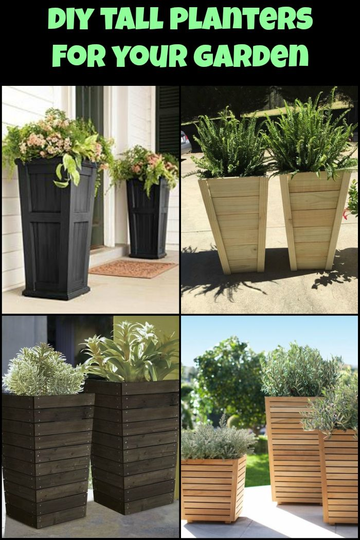 Diy Tall Planters For 20 In 2020 Diy Planters Outdoor Tall Outdoor Planters Diy Planters
