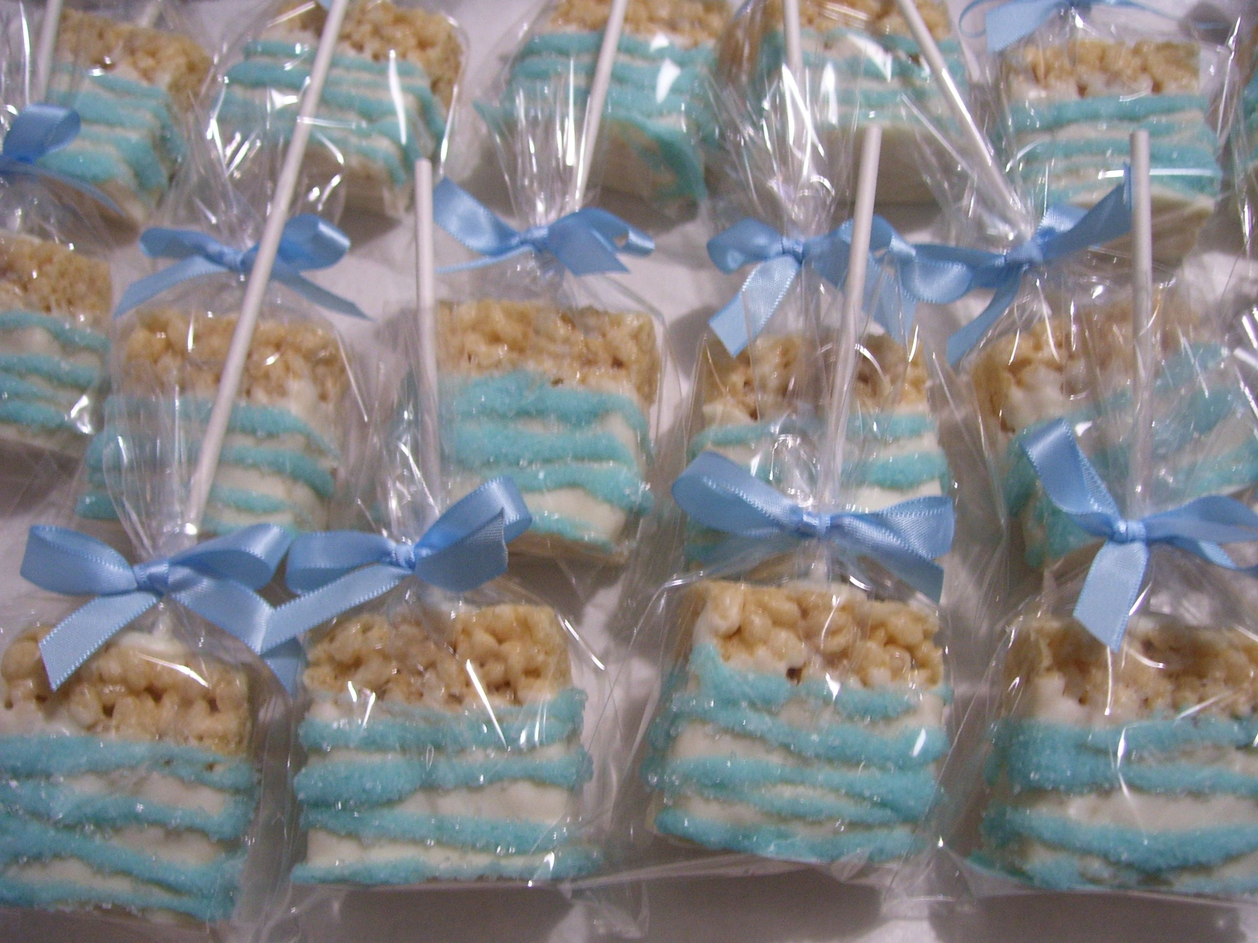 Baby Shower Favors ~ Chocolate Covered Rice Krispie Treat Pops ~ Visit  Marie Grahams On Etsy