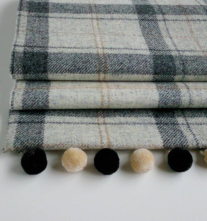 Winter Grey Tweed Roman Blind Roman Blinds Nursery