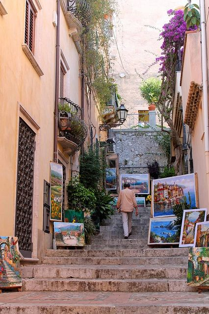 Art in Taormina, Sicily, submitted by Holly